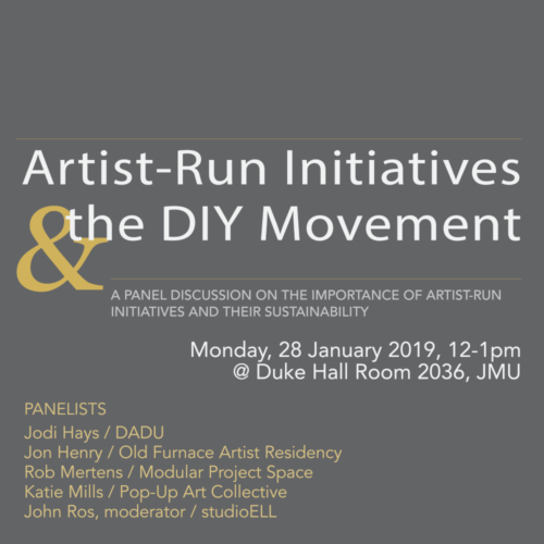 panel discussion: artist-run initiatives + the diy movement, john ros moderator
