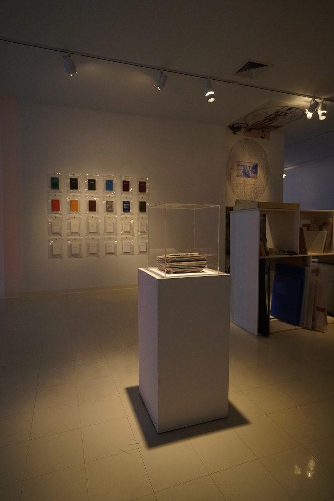 john ros, untitled: (1975-present), 2017, mixed media installation