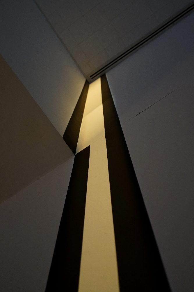 john ros, untitled: (corner measurement), 2017, mixed media installation
