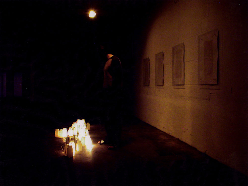 john ros installation, the suppression of awareness - in six parts, identikit, 2002