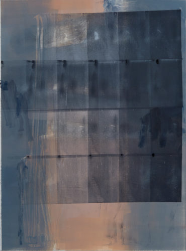 john ros, untitled series, 2017 monotype and collage