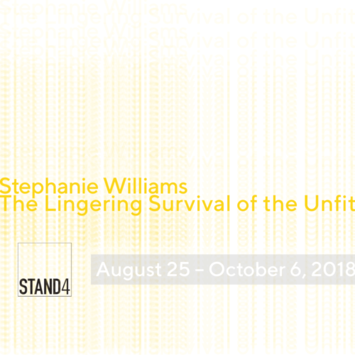 25 august – 06 october 2018 stephanie williams: the lingering survival of the unfit curated by john ros stand4 gallery, brooklyn, new york